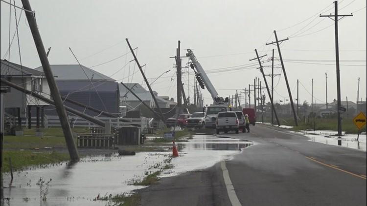 Severe storm strikes coastal town