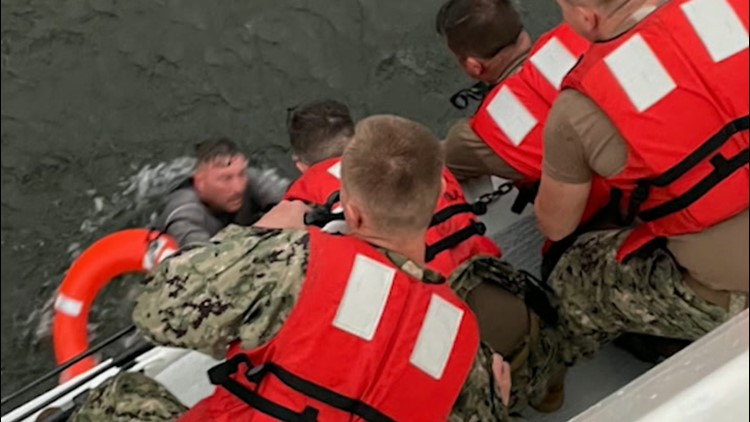 Searching for survivors after boat capsized
