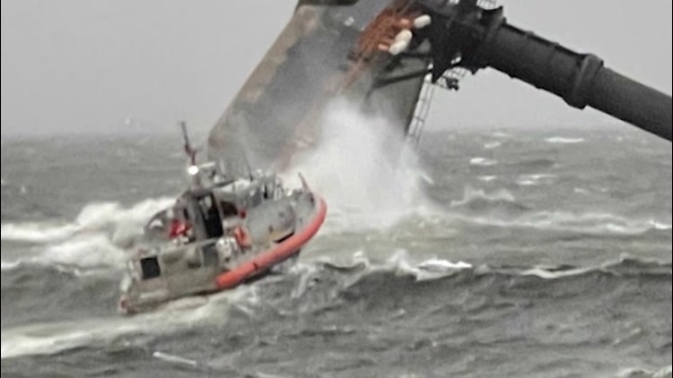 Coast Guard searches for missing crew members