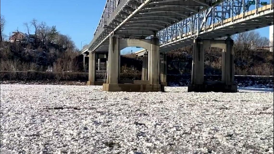 Warmer weather clears up ice jams