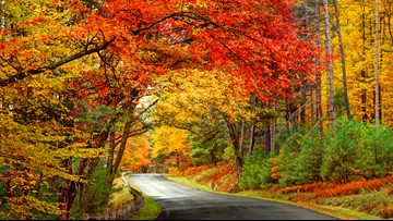 When will fall colors peak in the U.S.?