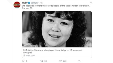 Kellye Nakahara Wallett of 'M*A*S*H' dies at age 72