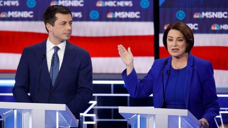 Election 2020 Debate Amy Klobuchar Pete Buttigieg
