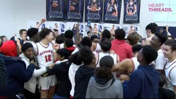 Teammates and opponents celebrate buzzer-beater made by player with Down syndrome
