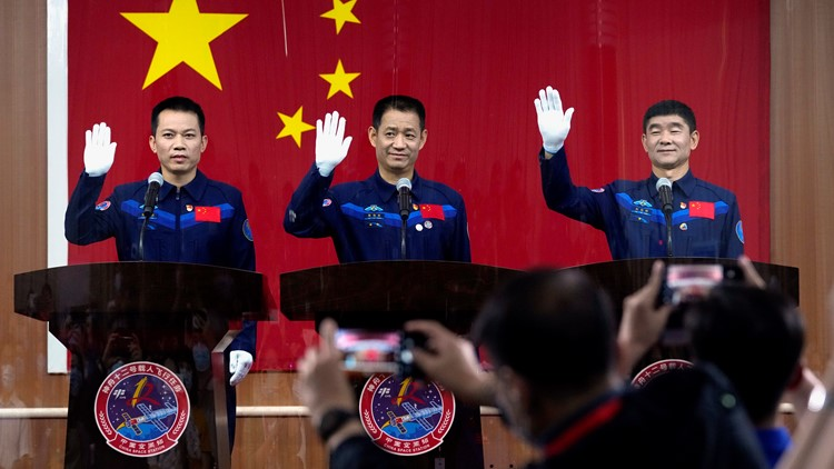 Watch live: China launches 1st crew to new space station