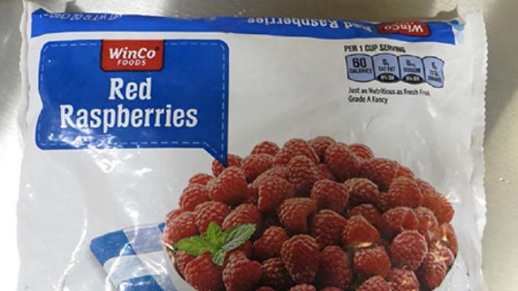 WinCo Frozen Red Raspberries