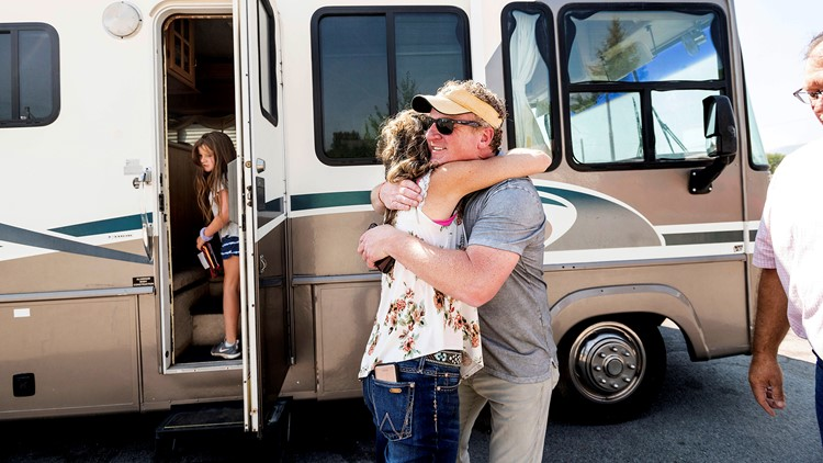 Father and daughter, 9, delivering donated RVs to wildfire victims
