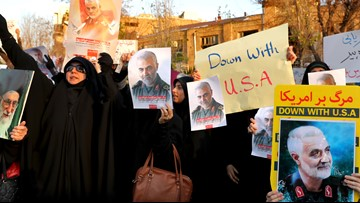 Defying police, Iranians protest over shot down plane