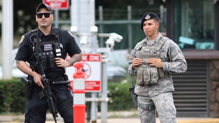 Pearl Harbor Shooting scene guards