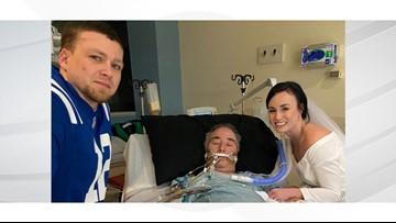 Bride plans impromptu wedding in her father's hospital room