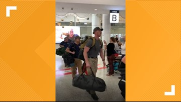 Watch how this Australian airport welcomed US firefighters arriving to fight wildfires