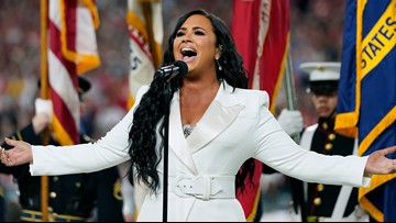 Watch: Demi Lovato delivers powerful Super Bowl anthem