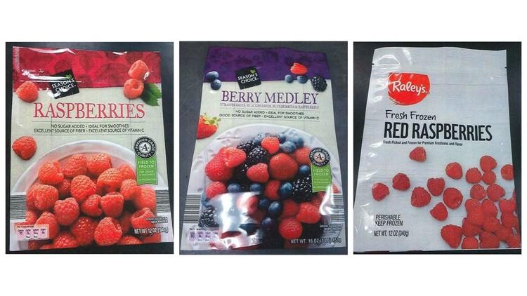 Frozen berries recall
