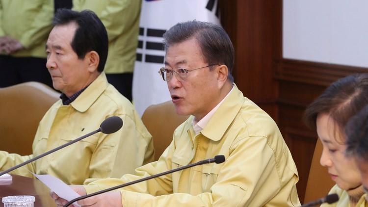 South Korea Virus Outbreak President Moon Jae-in