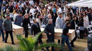 First funeral held for 3 of 9 Americans killed in Mexico ambush
