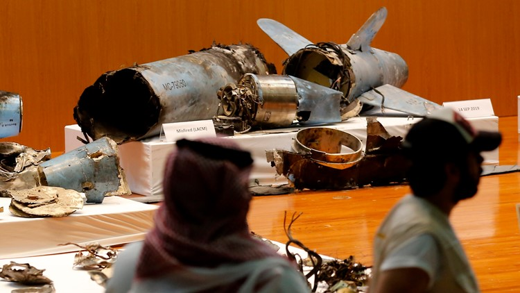 Saudi Persian Gulf Tensions missile on display