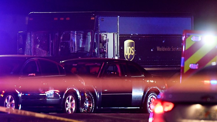 UPS Truck Chase Shootout scene