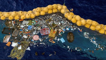 Device to clean giant garbage patch from ocean is working, inventor says