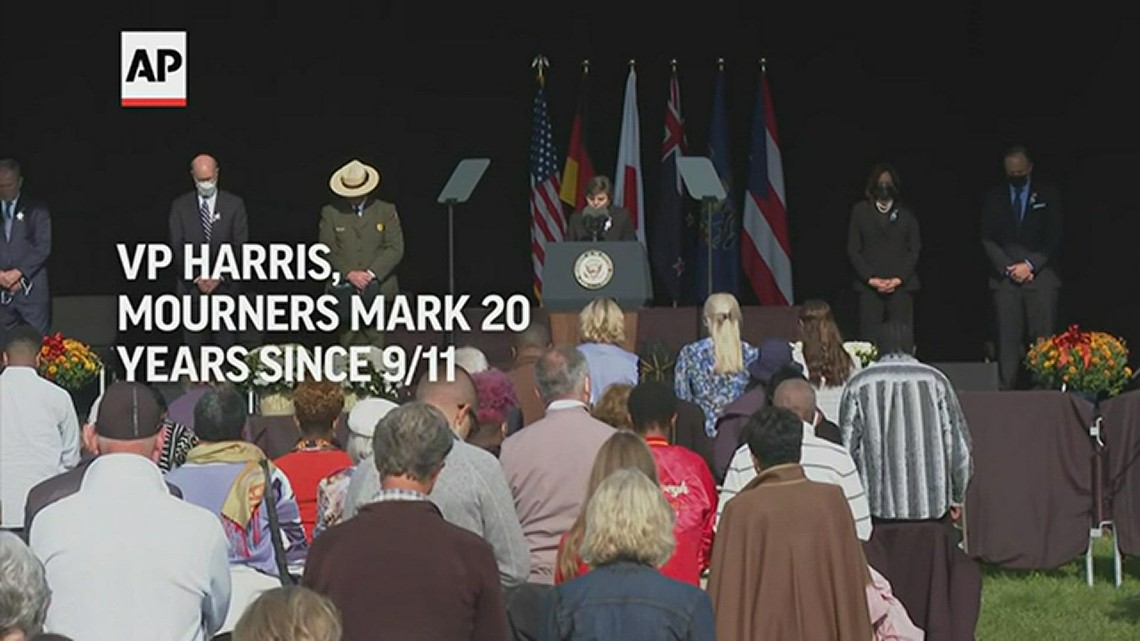 Vice President Harris, mourners mark 20 years since 9/11 in Shanksville, PA