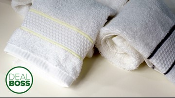 These luxury towels are soft, durable and on sale