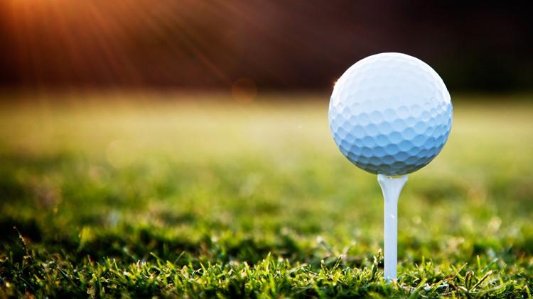 golf ball on tee generic