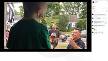 Dropkick Murphys perform outside window of house-ridden 3-year-old battling cancer
