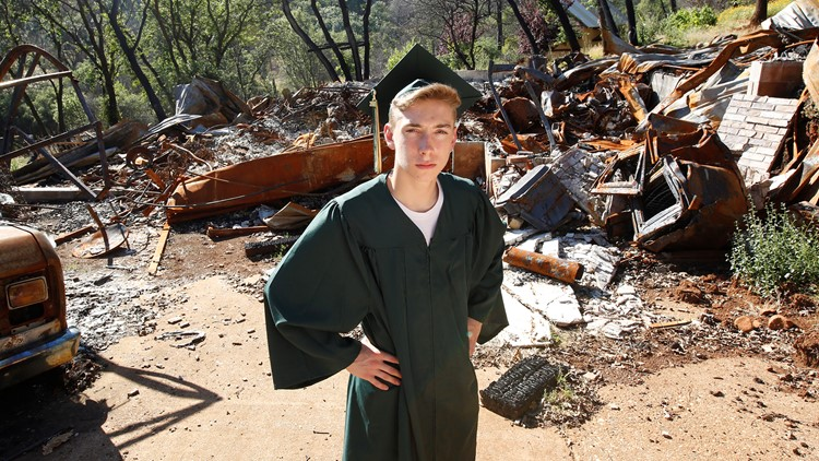 California Wildfire Paradise Graduates