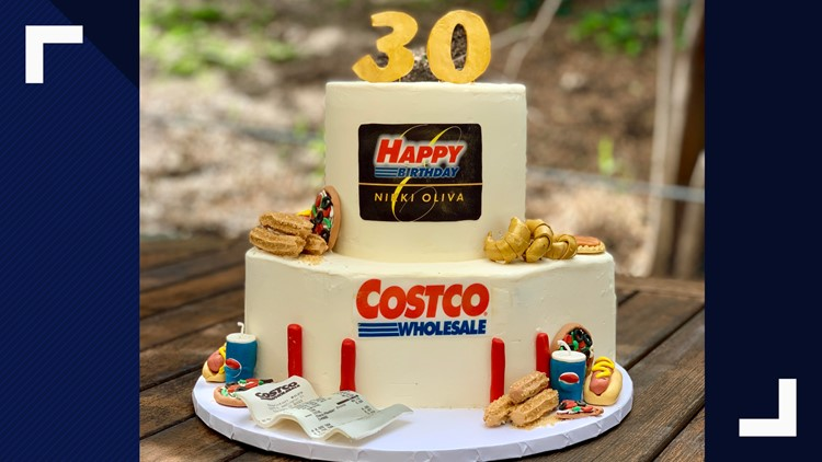 Terrific Bakers Amazing Costco Birthday Cake Includes Samples Churros Funny Birthday Cards Online Aboleapandamsfinfo