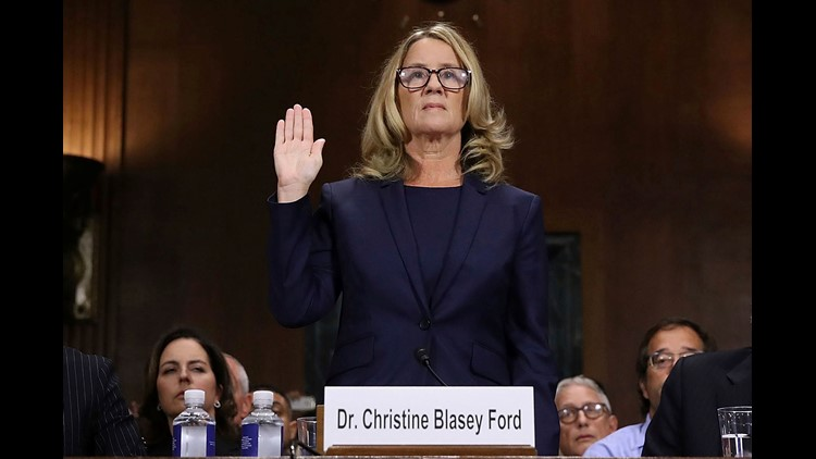 Kavanaugh and accuser Ford testify before Senate panel