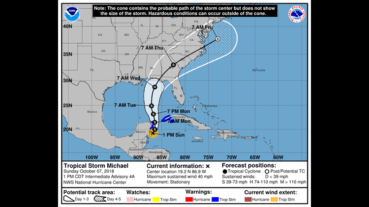 TD 14 upgraded to Tropical Storm Michael