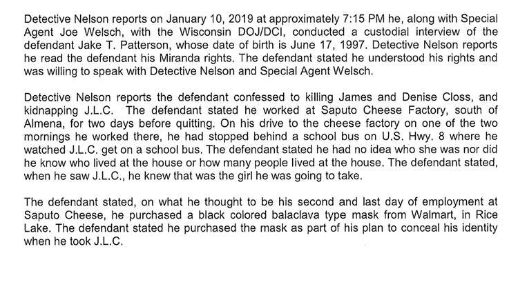 Criminal complaint (School bus)