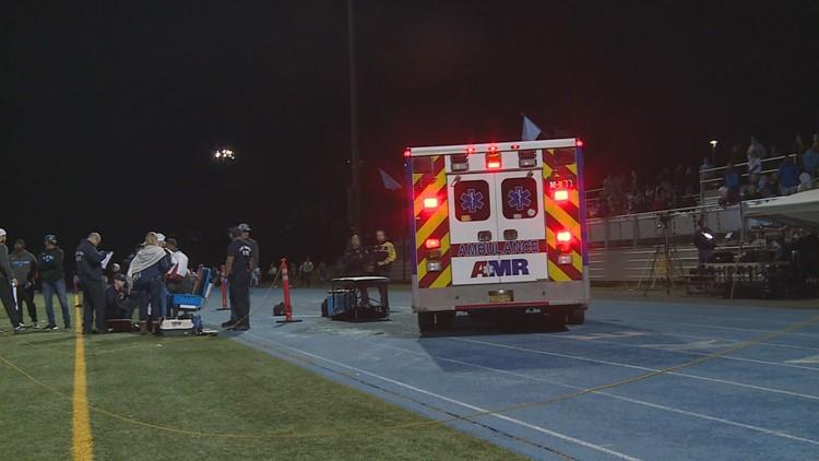 Ambulance on sideline of football gameStill1114_00009_1542239499223.jpg