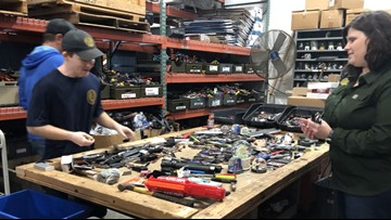 Inside the shop that sells items confiscated at Texas airports