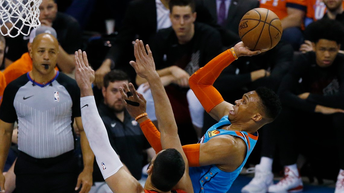 Westbrook leads Thunder past Trail Blazers, 120-108, in Game 4