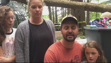 Family speaks about tree falling on campsite while they slept