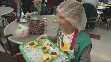 Girl Scouts donate 12 thousand cookies to seniors