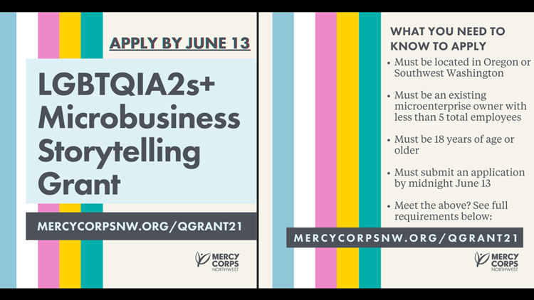 Mercy Corps offers grants to LGBTQ-owned small businesses in Oregon, Washington