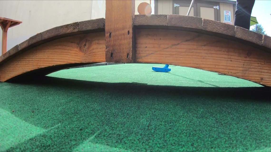 Hotel DeLuxe's mini-golf beer garden, The 19th Hole, reopens in a downtown Portland that needs it