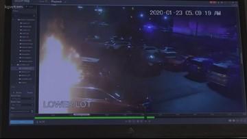 Women arrested for arson at car dealership