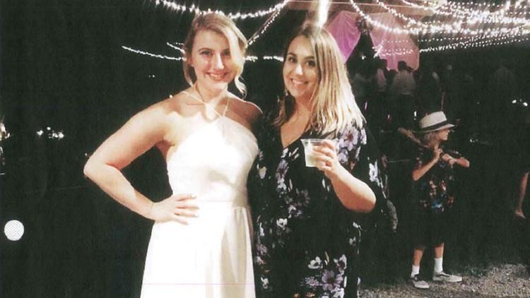 Meighan Cordie at her friend's wedding