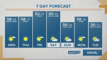 KGW Noon forecast 11-6-19