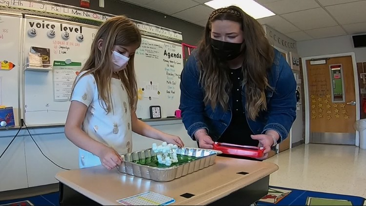 Students learn about earthquake safety