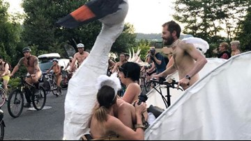 And again, Naked Bike Ride is most popular local KGW slideshow in 2018