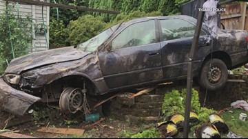 DUII driver crashes into Tigard homes