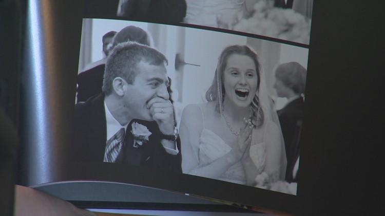 Wedding photo of Evan and Rachel