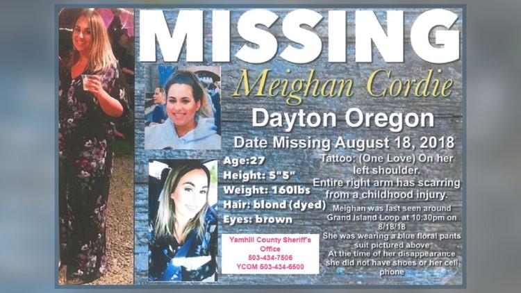Flyer: Meighan Cordie missing
