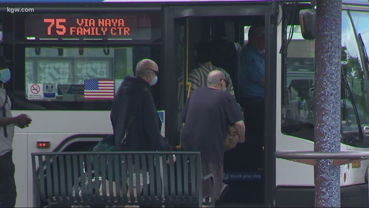 Capacity limits on public transit will remain until Oregon reaches 70% vaccination goal