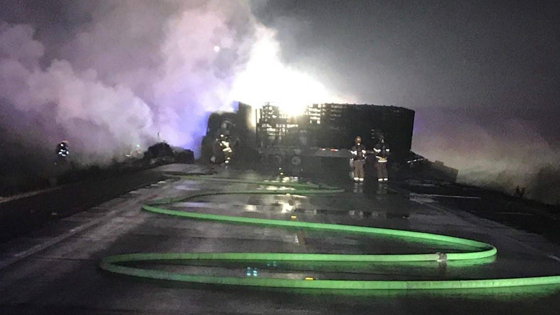 Two die in fiery crash on Highway 18 | kgw com