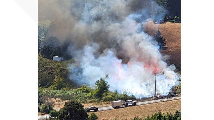 Grass fire near Salem contained, all evacuation orders lifted