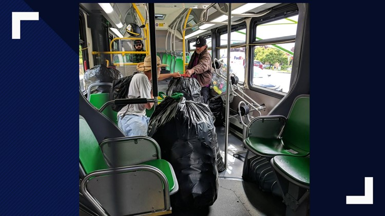C-Tran has banned bags of bottles and cans on its transit system